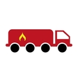truck tank flame icon vector image vector image