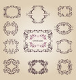 vintage old empty frames and banners vector image vector image