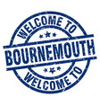 welcome to bournemouth blue stamp vector image vector image