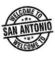 welcome to san antonio black stamp vector image