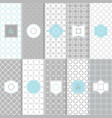 white and gray modern tile texture pattern set vector image