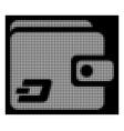 white halftone dash wallet icon vector image