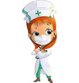 woman doctor cartoon vector image