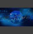 world economics concept 3d earth globe vector image vector image