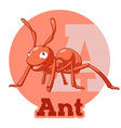 abc cartoon ant vector image