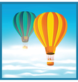 Air balloons in the clouds vector image