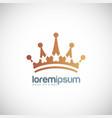 crown logo vector image