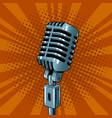 microphone pop art style vector image