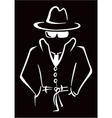 Mysterious man in the hat vector image