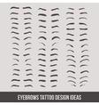 Eyebrows tattoo design ideas tatto vector image