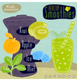 Healthy smoothie recipe set vector image