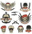 Set of special forces labels vector image