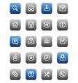 Stencil matt buttons for internet vector image