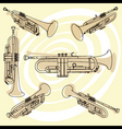 trumpets set vector image