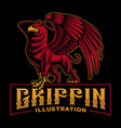 a colorful griffin this design can be used vector image vector image