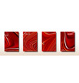 abstract bright red splash acrylic paints vector image vector image