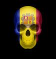 andorran flag skull vector image vector image