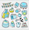 baby shower boy decoration elements vector image vector image