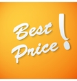Best price paper background vector image