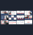 business presentation templates from infographic vector image vector image