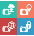 camera digital icon set vector image vector image