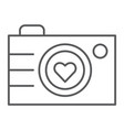 camera thin line icon photography and love love vector image vector image