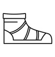 camp boot icon outline style vector image