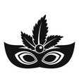 carnaval mask icon simple style vector image
