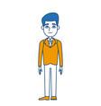 cartoon man standing character male vector image vector image