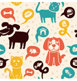 Cartoon seamless pattern with funny cats and dogs vector | Price: 1 Credit (USD $1)