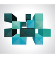 Colorful 3d Cubes background - Design vector image vector image