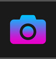 colorful camera symbol in gradient color on dark vector image