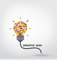 Creative light bulb Idea vector image vector image