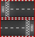 creative of finish line racing vector image