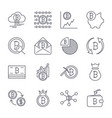 cryptocurrency line icons set collection vector image vector image