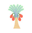 decorative palm tree in egyptian style floral vector image
