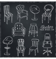 Doodle Set of chairs vector image vector image