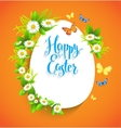 Easter bright card with flowers vector image vector image