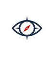 eye compass logo icon design vector image vector image