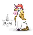 fantasy animal horse unicorn vector image vector image