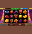 free games screen for slots game vector image