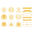 grand prize award certificates and ribbons in gold vector image vector image