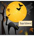 halloween card vector image vector image