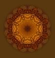 hand drawn ethnic circular beige ornament vector image