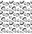 hand drawn ink watermelons pattern vector image