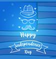 Independence day celebration blue background vector image