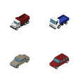 isometric transport set of freight auto lorry vector image vector image