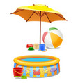 kids play set under sun or on beach vector image