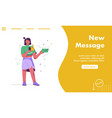 landing page new message concept vector image