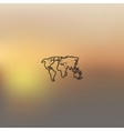 map icon on blurred background vector image vector image